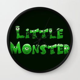 Little Monster (dark bg) Wall Clock
