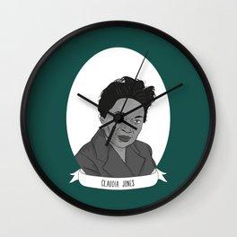Claudia Jones Illustrated Portrait Wall Clock