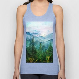 Spring Mountainscape Unisex Tank Top