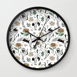 Tokyo Birds 1956 Wall Clock