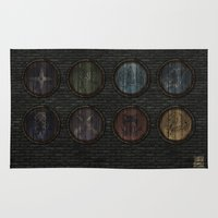 skyrim Area & Throw Rugs featuring Shield's of Skyrim by VineDesign