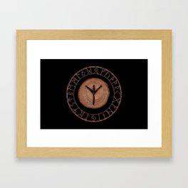 Algiz Elder Futhark Rune divinity, higher self, the state of listening, protective teaching force Framed Art Print