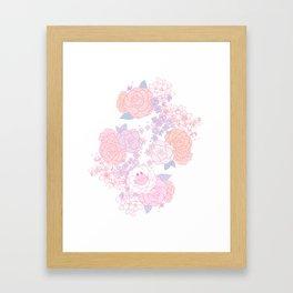 Feline Florals Framed Art Print