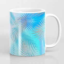 Watercolor and Silver Feathers on Watercolor Background Coffee Mug