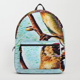 Goldfinch | Painting  Backpack