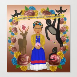 Frida Kahlo Tribute Copper Canvas Print