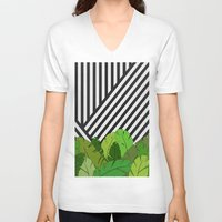 bianca green V-neck T-shirts featuring Green Direction by Bianca Green