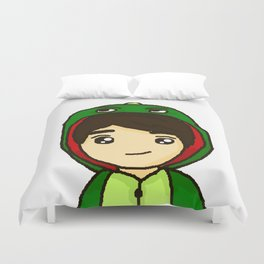 Danisnotonfire the Dinosaur Duvet Cover