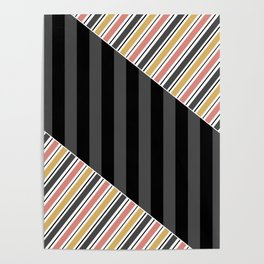 Set 1 striped Poster