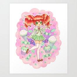 Candy girl Art Print