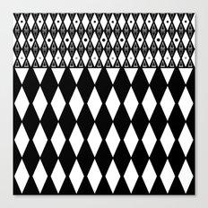 Black and white . Geometric 2 Canvas Print