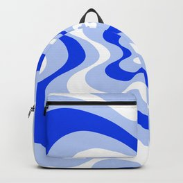 Abstract pattern - blue and white. Backpack