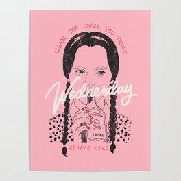 Wednesday Addams Eyes Poster
