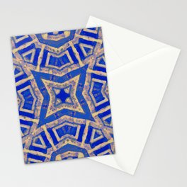 Blue Mosaic Old World Morocco Tile Stationery Cards