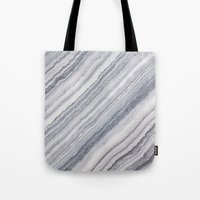 geology Tote Bags featuring Grey Marble by Santo Sagese