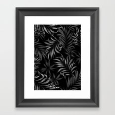 Dark Palms Framed Art Print