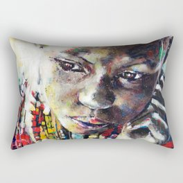 Reverie - Ethnic African portrait Rectangular Pillow