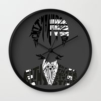 soul eater Wall Clocks featuring death the kid soul eater by Rebecca McGoran