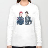 my chemical romance Long Sleeve T-shirts featuring My Chemical Pilots by poweredbycokezero