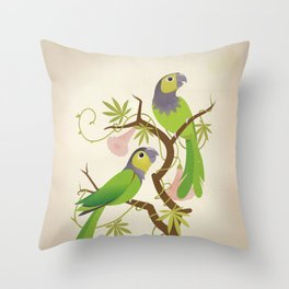 Black-capped conure Throw Pillow