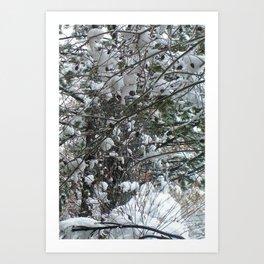 Snow Wishes Art Print