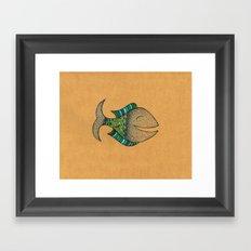 happy fish #4 Framed Art Print