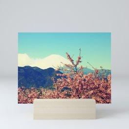 Mountains & Flowers Landscape Mini Art Print