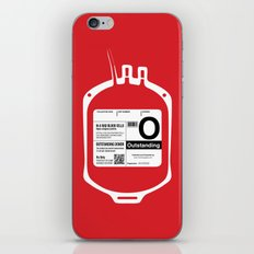 My Blood Type is O, for Outstanding! iPhone & iPod Skin