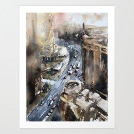A Busy City Art Print
