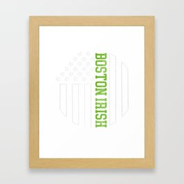 Boston Irish products by Howdy Swag print Framed Art Print