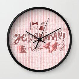 Geronimo! II Wall Clock