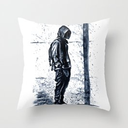 Cool boy Throw Pillow