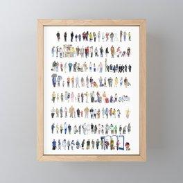 Major Queuing Framed Mini Art Print