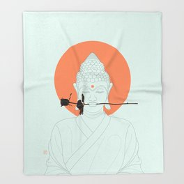 Buddha : Make Love! Throw Blanket