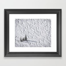 Powder tracks Framed Art Print