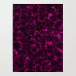 Repetitive intersecting pink hearts on a sparkling dark background. Poster