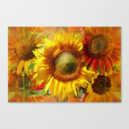 Echoes Of Sunflowers Canvas Print
