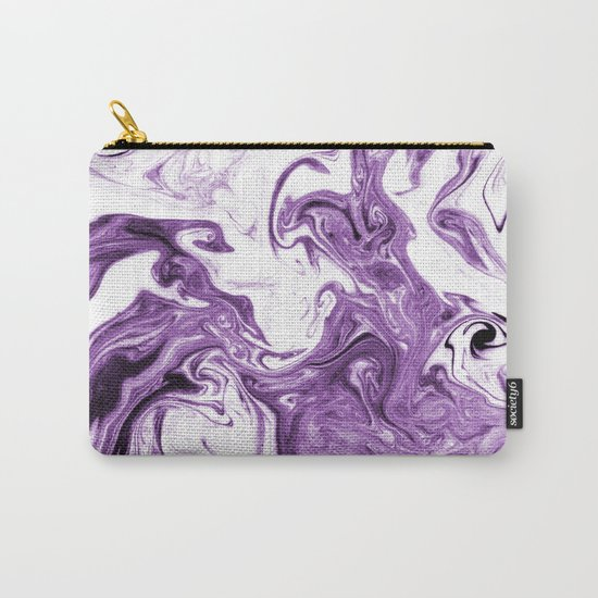 Marble Suminagashi lilac 4 watercolor pattern art pisces water wave ocean minimal design Carry-All Pouch