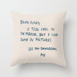Dear Diary Throw Pillow
