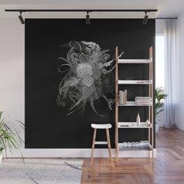 50 shades of lace Grey Silver Black Wall Mural