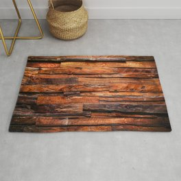 Beautifully Aged Wood Texture Rug