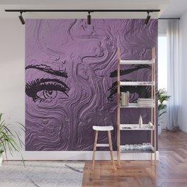 Super purple glam lashes Wall Mural