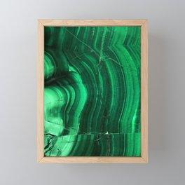 Malachite Texture Framed Mini Art Print