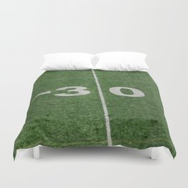30 line on canadian #football field Duvet Cover