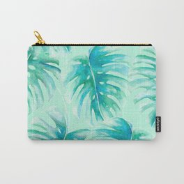 Paradise Palms Mint Carry-All Pouch