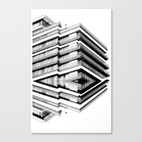 budapest hotel Canvas Prints featuring Hotel Merriot Budapest. Deconstruction by Villaraco