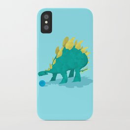 Stegosaurus and his Ball iPhone Case