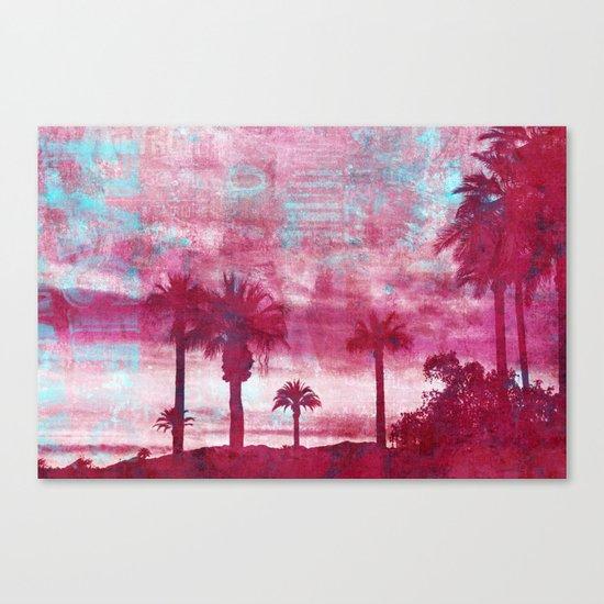 Pacific Island Grunge Look Mixed Media Art Canvas Print