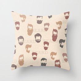 Beards! Throw Pillow