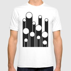 Test Pattern White MEDIUM Mens Fitted Tee